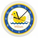 Yellow Duck Ducky Wall Clock Bathroom Decor Wall Art