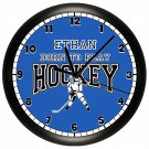 Hockey Personalized Wall Clock