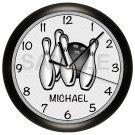 Personalized Bowling Wall Clock
