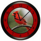 Cardinal Wall Clock Bedroom Decor Art