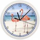 Flamingo Wall Clock Bird Art Decor