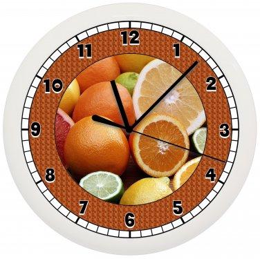 ORANGES FRUIT WALL CLOCK CUTE GIFT ART DECOR ROOM KITCHEN FOOD
