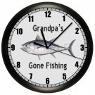 PERSONALIZED FISHING WALL CLOCK FISH DAD FATHER GIFT TUNA