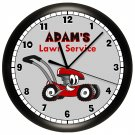Personalized Lawn Mower Wall Clock