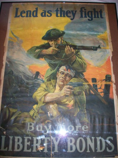 World War 1 War Bonds Poster