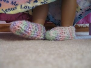 Pastel Slippers for American Girl