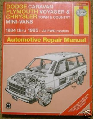 Haynes Automotive Repair Manual for Dodge Plymouth Chrysler mini vans