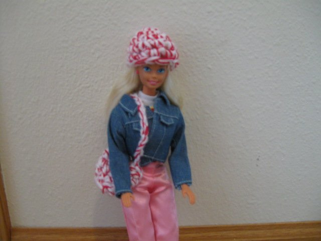 Pink Hat and Purse for Barbie
