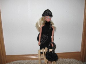 Three piece hat and purse set for Barbie