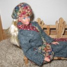 Natural color hat and purse set for Barbie