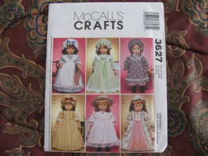 "McCALL'S  3627 AMERICAN GIRL18"" DOLL CLOTHES SEWING PATTERN FELICITY 1776 REVOLUTION HISTORICAL NEW"