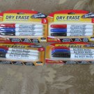 Qty 4 packages DRY ERASE markers Promarx 3 ct bullet tip NEW in package
