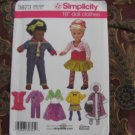 "Simplicity 3873 American Girl 18"" Doll clothes pattern DISCONTINUED  NEW in envelope"
