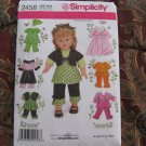 """SIMPLICITY 2458 AMERICAN GIRL 18"""" Doll CLOTHES SEWING PATTERN SUNDRESS SHRUG MODERN NEW"""
