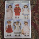 "Butterick 4699  LIFE OF FAITH,  American Girl 18"" Doll clothes pattern   NEW  DISCONTINUED"