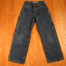 OLD NAVY BOY'S SIZE 10 CARPENTER JEANS DARK BLUE DENIM VINTAGE SURE2FIT PAINTER