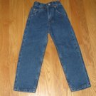ARIZONA JEAN CO. SIZE 5 SLIM RELAXED FIT DARK BLUE DENIM BOY'S 5 POCKET STRAIHT LEG JEANS NEW W TAG