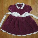 GEORGE classic style 3T CHRISTMAS HOLIDA DRESS BERRY COLORED with ivory satin trim