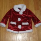 In Design Boys Size 6-9 mo. red velvet Santa suit Coat w/ white faux fur trim Christmas Holiday