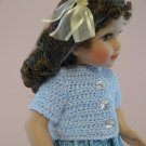 "AMERICAN GIRL 18"" DOLL CLOTHES BLUE CARDIGAN SWEATER NICKI, JULIE SHORT SLEEVE LIFE OF FAITH"
