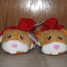 ZHU ZHU PETS SIZE 5/6 TODDLER  BEDROOM SLIPPERS TAN AND RED GUINNA PIG NEW W/ TAG