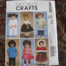 "McCALL'S 6006 AMERICAN GIRL 18"" DOLL CLOTHES NEW BOY KARATE, DRESS, APRON, CAPELET NEW"