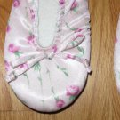 SECRET TREASURES SIZE S ADULT (5-6) PINK ROSE PRINT BEDROOM SLIPPERS NEW WITH TAG