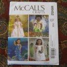 "McCall's 6452 American Girl 18"" Doll NEW BRIDE, PRINCESS, MERMAID, FAIRY sewing pattern"