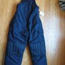 Sears sz. L (14-16) New Navy Blue bibbed snow pants, ski snowboard Winter outerwear