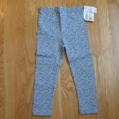 COLOR & CO GIRL'S SIZE 4 LEGGINGS GRAY W/ BLUE CALICO FLOWERS NEW WITH TAG MADE IN USA