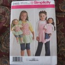 "Simplicity 2465 American Girl 18"" Doll clothes sewing pattern NEW APRON CHILD"