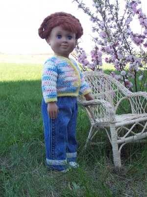 "BATTAT OUR GENERATION, TOLLY TOTS, or MAGIC ATTIC ONLY 18"" DOLL CLOTHES JEANS & SWEATER SET"