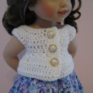 "LIFE OF FAITH 18"" DOLL CLOTHES WHITE BABY DOLL SWEATER AMERICAN GIRL NICKI, JULIE, MCKENNA"