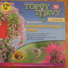 TOPSY TURVY UPSIDE DOWN HUMMINGBIRD HANGOUT PLANTER NEW IN BOX