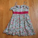 TWENTY ONE WOMEN'S SIZE S/P SUNDRESS (SHORT) OR TOP (LONG) SPAGHETTI STRAPS MINT & FUCHSIA