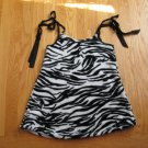 HANDMADE Girl's Size 6 ZEBRA PRINT FLEECE DRESS JUMPER MADE IN USA