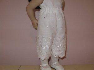 "AMERICAN GIRL CAROLINE 18"" DOLL CLOTHES WHITE EYELET PANTALOONS, BLOOMERS GRACE  LIFE OF FAITH"