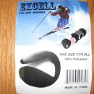 EXCELL UNISEX ADULT ONE SIZE FITS ALL 180 DEGREES EAR WARMER BLACK.WINTER OUTERWEAR NEW