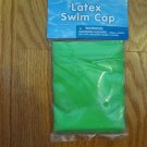 SAND AND SUN LATEX SWIM CAP YOUTH AGES 5+ LIME GREEN NEW IN PACKAGE UNISEX