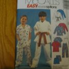 McCALL'S 4103 BOY GIRL DOCTOR NURSE SCRUBS KARATE UNIFORM COSTUME PATTERN SIZE 8 CUT