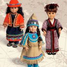 "McCALL'S M 6670 AMERICAN GIRL18""DOLL CLOTHES PATTERN INTERNATIONAL, ETHNIC CLOTHES COSTUMES NEW"