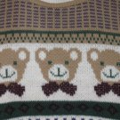 APPLEBY BOY'S SIZE 4 T HUNTER GREEN & TAN BEARS SWEATER FROM ENGLAND CLASSIC, VINTAGE LONG SLEEVE