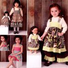 "Simplicity 1793 American Girl 18"" Doll clothes & MATCHING GIRLS DRESS sewing pattern NEW"