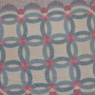 "FABRIC TRADITIONS 1992 VINTAGE COUNTRY BLUE & MAUVE BABY PRINT CHEATER QUILT PANNEL 35"" NEW HEIRLOOM"