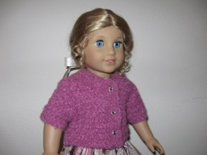 "AMERICAN GIRL SAIGE 18"" DOLL CLOTHES BERRY CARDIGAN SWEATER SHORT SLEEVE LIFE OF FAITH"