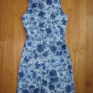 JUXTAPOSE GIRL'S SIZE M BLUE FLORAL PRINT DRESS SLEEVELESS PARTY EASTER