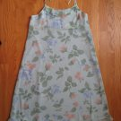 CHEROKEE GIRL'S SIZE 16 GREEN & BLUE FLORAL PRINT DRESS SPAGHETTI STRAPS PARTY EASTER