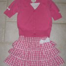 THE CHILDREN'S PLACE GIRL'S SZ 3 T SWEATER AND 24 mo. SKIRT SET PINK & WHITE WEDDING, CHURCH SPRING