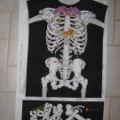VINTAGE SKELETON HALLOWEEN COSTUME FABRIC PANEL CHILD'S SIZE S, M, L  BOY'S GIRL'S UNISEX NEW UNCUT