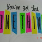 "LYRIC NATION T-SHIRT SIZE WOMEN'S M ""YOU'VE GOT THAT ONE THING"" BRIGHT CROP TOP GLITTER NEW W/ TAG"